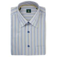 Robert Talbott Stripe Sport Shirt - Hidden Button-Down Collar, French Front, Long Sleeve (For Men) in Blue/Gold/Grey - Closeouts