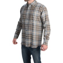 Robert Talbott Tartan Plaid Sport Shirt - Long Sleeve (For Men) in Brown/Sky/Tan - Closeouts