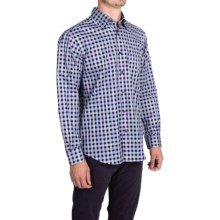 Robert Talbott Tartan Plaid Sport Shirt - Long Sleeve (For Men) in Navy/Rose/Green - Closeouts