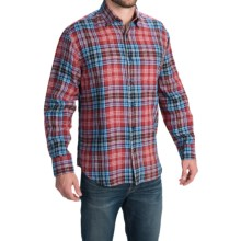 Robert Talbott Tartan Plaid Sport Shirt - Long Sleeve (For Men) in Red/Blue - Closeouts