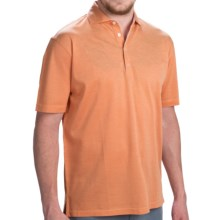 Robert Talbott The Drake Polo Shirt - Short Sleeve (For Men) in Apricot - Closeouts