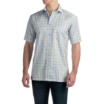 Robert Talbott The San Carlos Check Shirt - Cotton, Short Sleeve (For Men) in White/Yellow - Closeouts