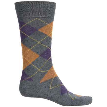 Robert Talbott Viscose-Silk Socks - Crew (For Men) in Grey - Closeouts