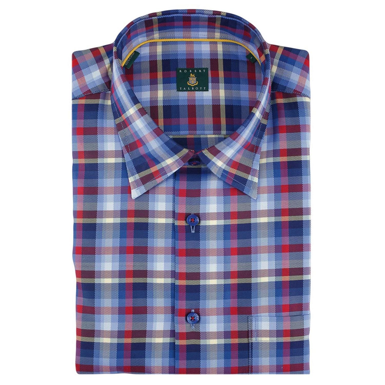 Robert talbott windowpane sport shirt hidden button down for Robert talbott shirts sale