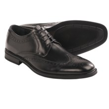 Robert Wayne Adrian Wingtip Shoes - Leather (For Men) in Black - Closeouts