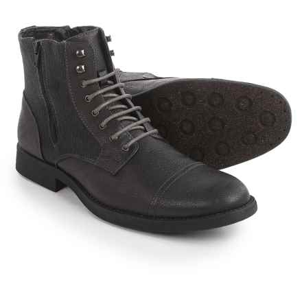 Robert Wayne Cap-Toe Boots - Vegan Leather (For Men) in Grey - Closeouts