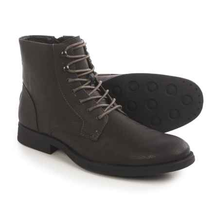 Robert Wayne Ellis Boots - Vegan Leather (For Men) in Black - Closeouts