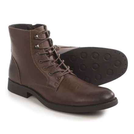 Robert Wayne Ellis Boots - Vegan Leather (For Men) in Brown - Closeouts
