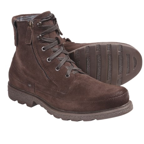 Robert Wayne Granger Lace-Up Boots - Double Zip (For Men) in Brown Suede