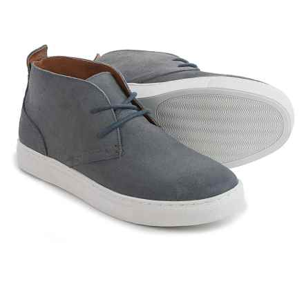 Robert Wayne Leather Chukka Boots - Lace-Up (For Men) in Washed Navy - Closeouts
