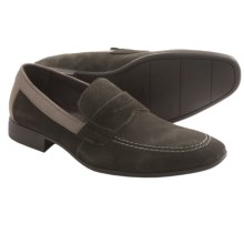 Robert Wayne Reese Penny Loafers - Leather (For Men) in Dark Grey - Closeouts