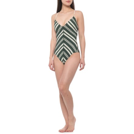 9896fb172b1 Robin Piccone Livvy One-Piece Swimsuit (For Women) in Deep Forest -  Closeouts