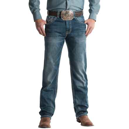 Rock & Roll Cowboy Cannon Raised-V Pocket Jeans - Bootcut, Loose Fit (For Men) in Dark Vintage - Closeouts