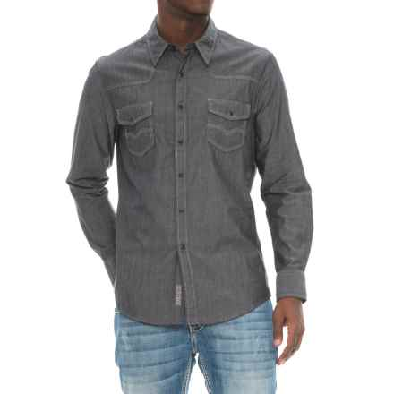 Rock & Roll Cowboy Chambray Shirt - Snap Front, Long Sleeve (For Men) in Grey - Overstock