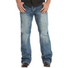 Rock & Roll Cowboy Double Barrel Double V Jeans - Relaxed Fit, Bootcut (For Men) in Medium Vintage Wash - Closeouts