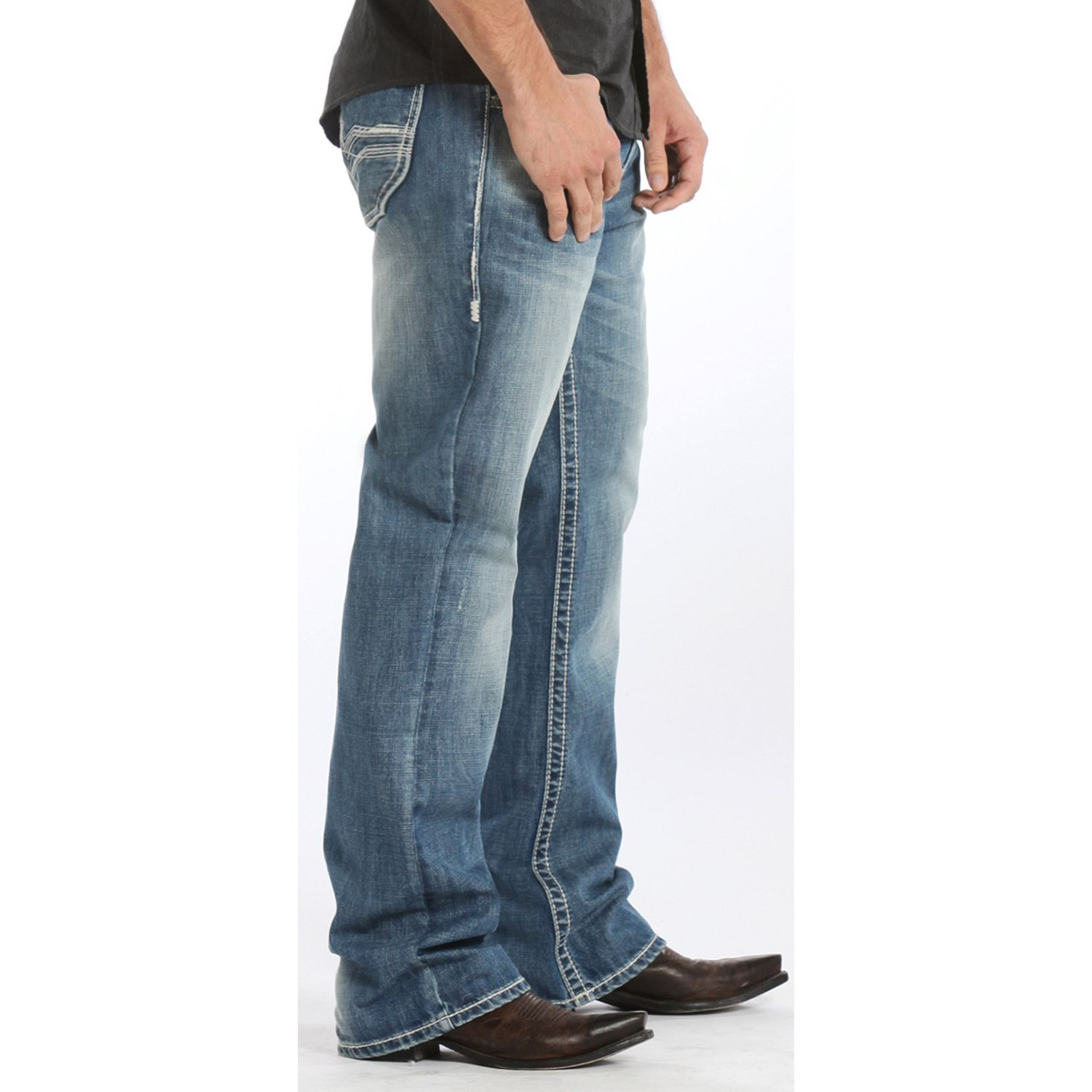 Relaxed Fit Bootcut Jeans For Men - Jeans Am