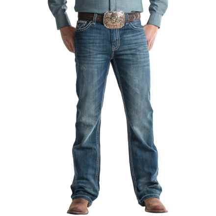 Rock & Roll Cowboy Double Barrel Jeans (For Men) in Dark Vintage - Closeouts