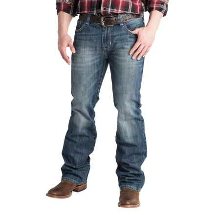 Rock & Roll Cowboy Double Barrel Low-Rise Jeans - Relaxed Fit, Straight Leg (For Men) in Dark Vintage Wash - Closeouts