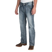 Rock & Roll Cowboy Double Barrel V Jeans - Relaxed Fit, Straight Leg (For Men) in Medium Vintage Wash - Closeouts