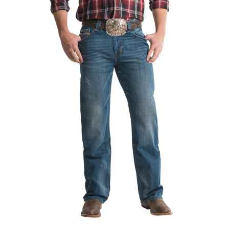 Rock & Roll Cowboy Double Barrel V-Stitch Jeans - Relaxed Fit, Straight Leg (For Men) in Dark Vintage - Closeouts
