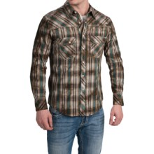 Rock & Roll Cowboy Dyed Plaid Shirt - Snap Front, Long Sleeve (For Men) in Brown - Closeouts