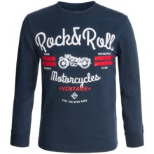 Rock & Roll Cowboy Graphic T-Shirt - Long Sleeve (For Little and Big Boys) in Indigo - Closeouts