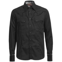 Rock & Roll Cowboy Jacquard Stripe Shirt - Embroidered Yokes, Long Sleeve (For Men) in Black - Closeouts
