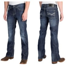 Rock & Roll Cowboy Pistol Abstract X Jeans - Slim Fit, Bootcut (For Men) in Dark Vintage Wash - Closeouts