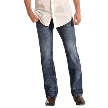 Rock & Roll Cowboy Pistol Double V Jeans - Straight Leg (For Men) in Dark Vintage Wash - Closeouts