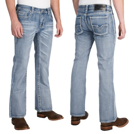 Rock and Roll Cowboy Pistol Ivory V Jeans Bootcut (For Men)