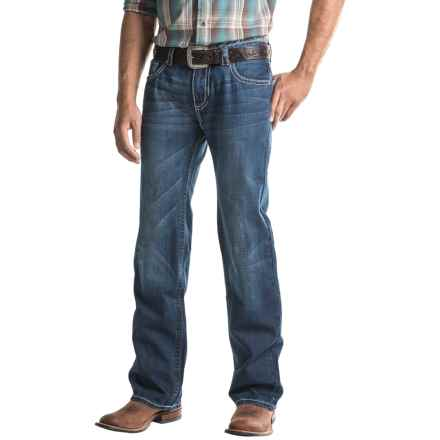 Rock & Roll Cowboy Pistol Jeans - A-Stitch Pocket (For Men) in Dark Wash - Closeouts