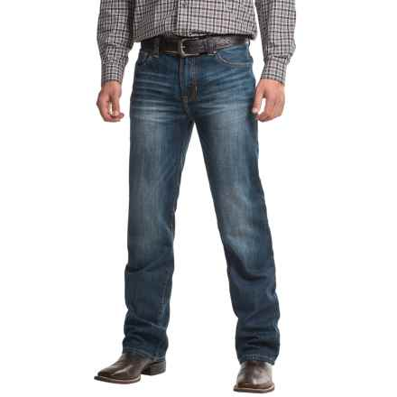 Rock & Roll Cowboy Pistol Jeans - Low Rise, Regular Fit, Straight Leg Jean (For Men) in Medium Vintage Wash - Closeouts