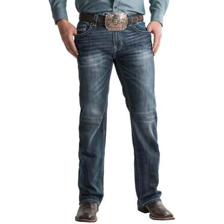 Rock & Roll Cowboy Pistol Jeans - Regular Fit, Straight Leg (For Men) in Dark Wash - Closeouts
