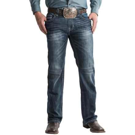 Rock & Roll Cowboy Pistol Jeans - Regular Fit, Straight Leg (For Men) in Dark Wash - Closeouts