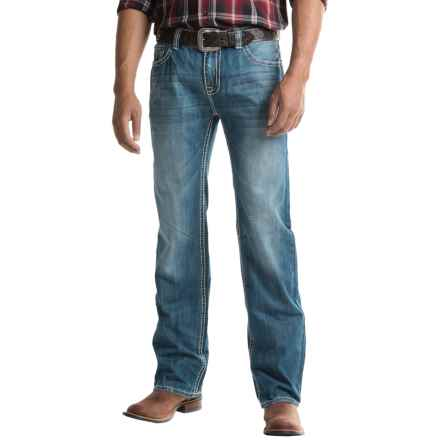 Rock & Roll Cowboy Pistol Jeans - Regular Fit, Straight Leg (For Men) in Medium Vintage - Closeouts