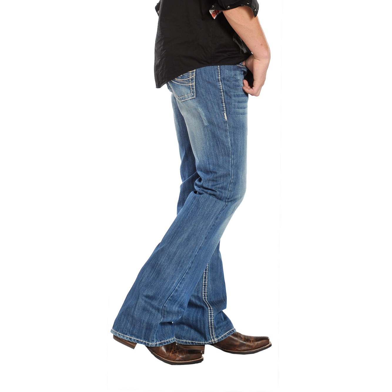 Slim Fit Bootcut Jeans Mens - Jeans Am