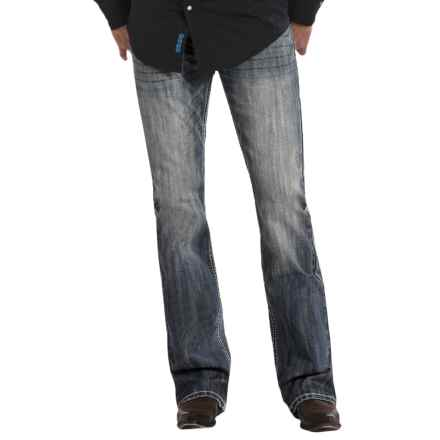 Rock & Roll Cowboy Pistol Multi V Jeans - Bootcut (For Men) in Medium Wash - Closeouts