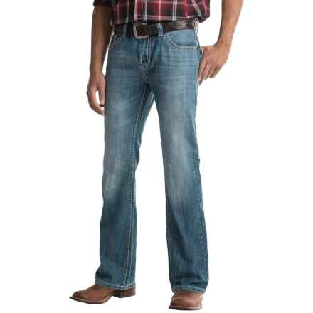 Rock & Roll Cowboy Pistol Raised-V Pocket Jeans - Bootcut (For Men) in Medium Wash - Closeouts