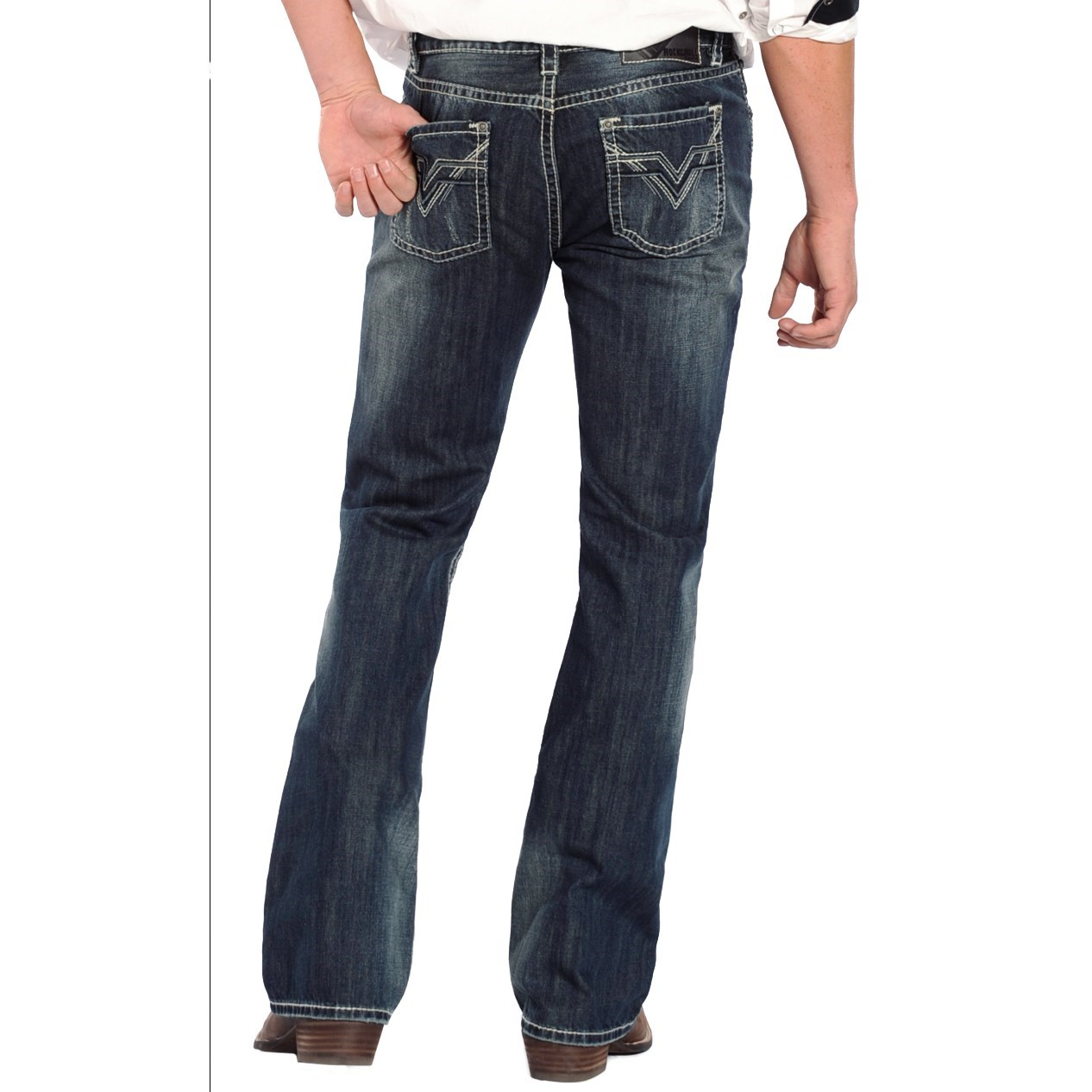 rock roll cowboy pistol vintage wash jeans for men. Black Bedroom Furniture Sets. Home Design Ideas