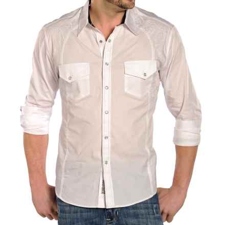 Rock & Roll Cowboy Poplin Bobbin Stitch Shirt - Snap Front, Long Sleeve (For Men) in White - Closeouts