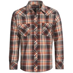Rock & Roll Cowboy Poplin Plaid Shirt - Long Sleeve (For Men) in Brown