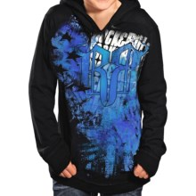 Rock & Roll Cowboy Pullover Hoodie (For Boys) in Black/Blue - Closeouts