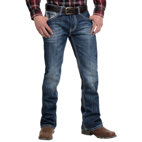 Rock and Roll Cowboy Raised V Jeans Slim Fit, Bootcut (For Men)