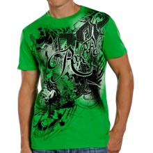 Rock & Roll Cowboy Rider Logo T-Shirt - Short Sleeve (For Men) in Kelly Green - Closeouts