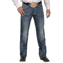 Rock & Roll Cowboy Tuf Cooper Jeans - Competition Fit, Straight Leg (For Men) in Dark Vintage Wash - Closeouts