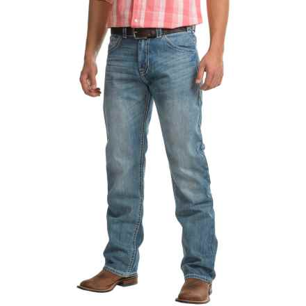 Rock & Roll Cowboy Tuf Cooper Jeans - Competition Fit, Straight Leg (For Men) in Medium Vintage Wash - Closeouts