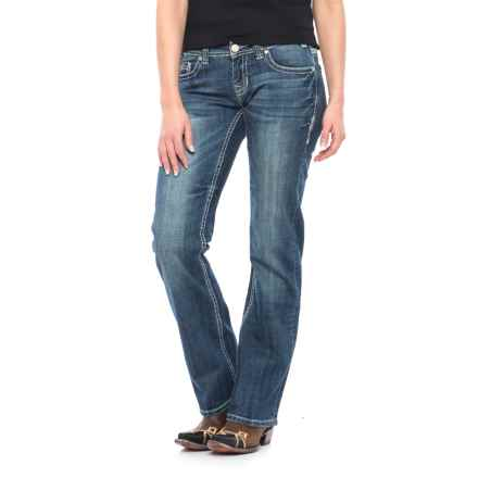 Rock & Roll Cowgirl Arrow Rain Riding Jeans - Bootcut (For Women) in Dark Vintage - Closeouts