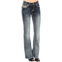 Rock & Roll Cowgirl Aztec Embroidered Jeans - Mid Rise, Bootcut (For Women) in Medium Vintage - Closeouts