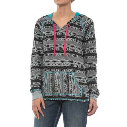 Rock & Roll Cowgirl Aztec Print Hoodie (For Women) in Ash - Closeouts