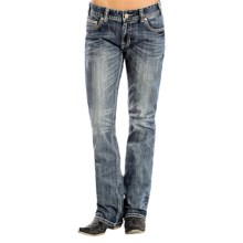 Rock & Roll Cowgirl Bean & Broken Bar Boyfriend Jeans - Bootcut (For Women) in Medium Wash - Overstock